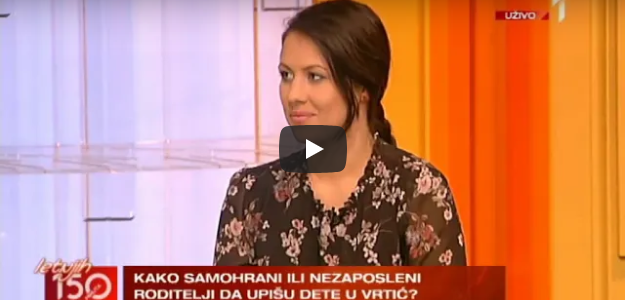 """Advokat Marija Cvjetićanin je gostovala u emisiji """"150 minuta"""" na TV Prva i pričala o upisima dece u vrtiće."""