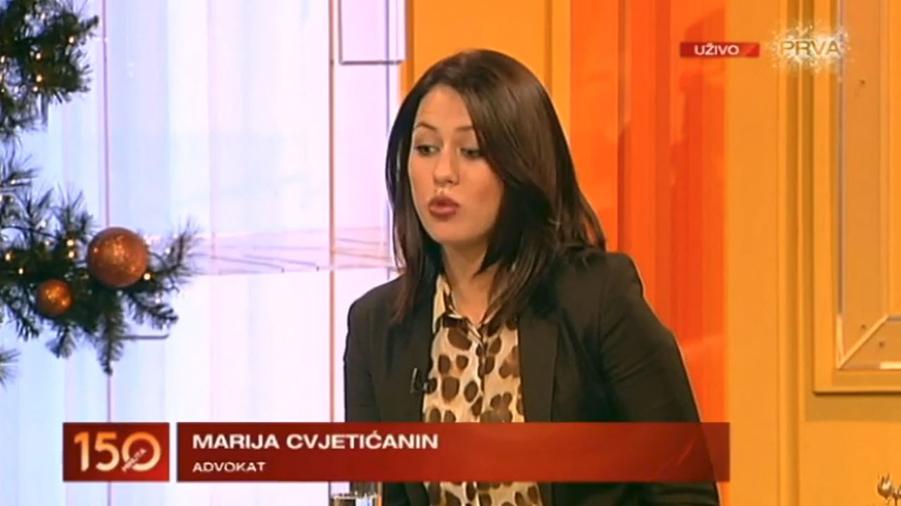 Advokat Marija Cvjetićanin na TV Prva o registraciji oružja
