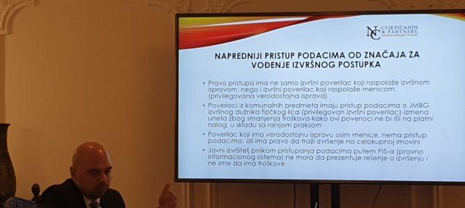 Održan seminar: Na korak od primena izmena Zakona o izvršenju i obezbeđenju Republike Srbije
